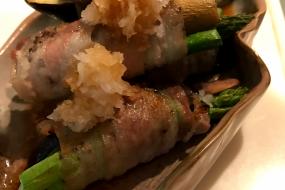 簡単&時短☆魚焼きグリルは最高の調理器具!~なすとアスパラの肉巻き~