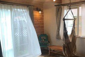 【リフォームで和室を洋室に】ハンモックが楽しめるログハウス風の部屋 K邸 Vol.1